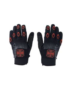 West Coast Choppers Por Vida Gloves - Black/Red