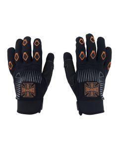 West Coast Choppers Por Vida Gloves - Black/Orange