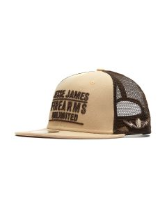 JJFU Desert Statement Mesh Snapback Flatbill Hat - Desert/Sand