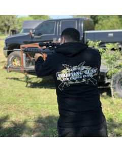 SHOOTING GUNS ZIP HOODIE Black