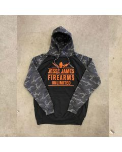 JJFU TROOPER HOODY Solid Black/Black Camo