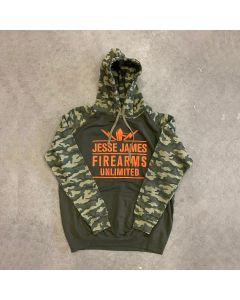 JJFU TROOPER HOODY Solid Green/Green Camo