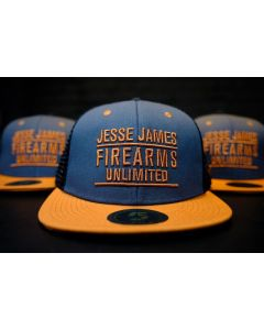 JJFU TX ORANGE - FLATBILL SNAPBACK HAT - GREY/BLACK/BURNT
