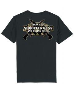 SHOOTING GUNS TEE - BLACK