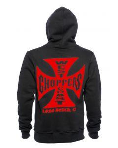 WCC - RED OG CROSS ZIP HOODY - Black