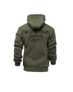 Motorcycle CO. Zip Hoody - Olive Green