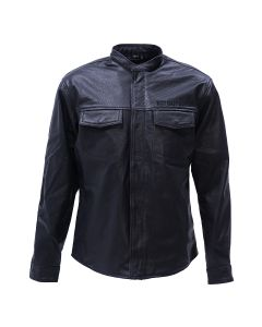 WCC - OG PERFORATED LEATHER RIDING SHIRT - BLACK