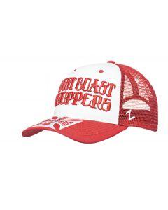 WCC - CLUTCH LOGO ROUND BILL TRUCKER HAT - Red