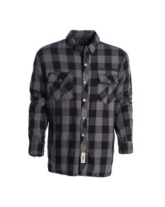 FLANNEL KEVLAR RIDING SHIRT GREY-BLACK