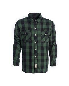 FLANNEL KEVLAR RIDING SHIRT GREEN-BLACK